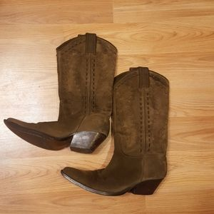 Guess suede cowboy boots